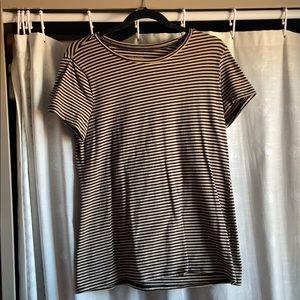 tan & black striped t-shirt